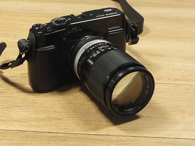 Fuji X-Pro1 avec objectif Canon FD 135mm 2.5