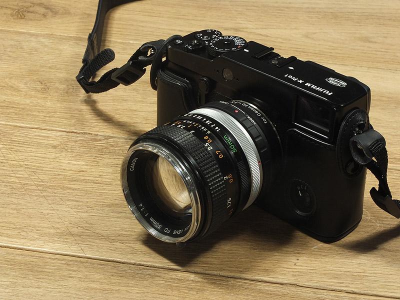 Fuji X-Pro1 avec objectif Canon FD 50mm 1.4
