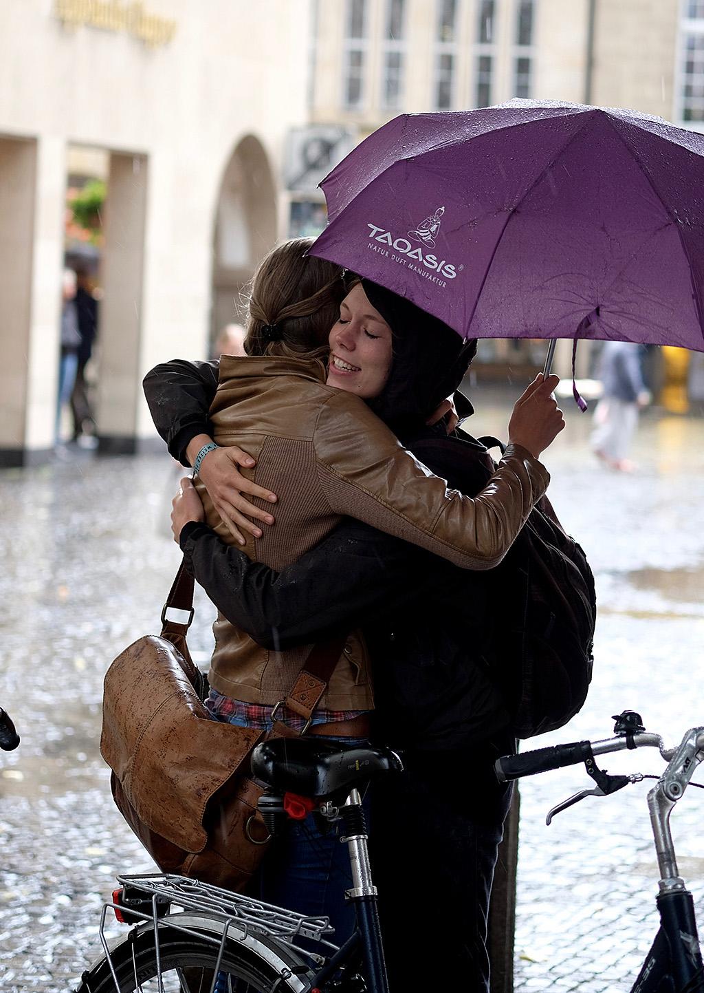 Les adieux sous la pluie