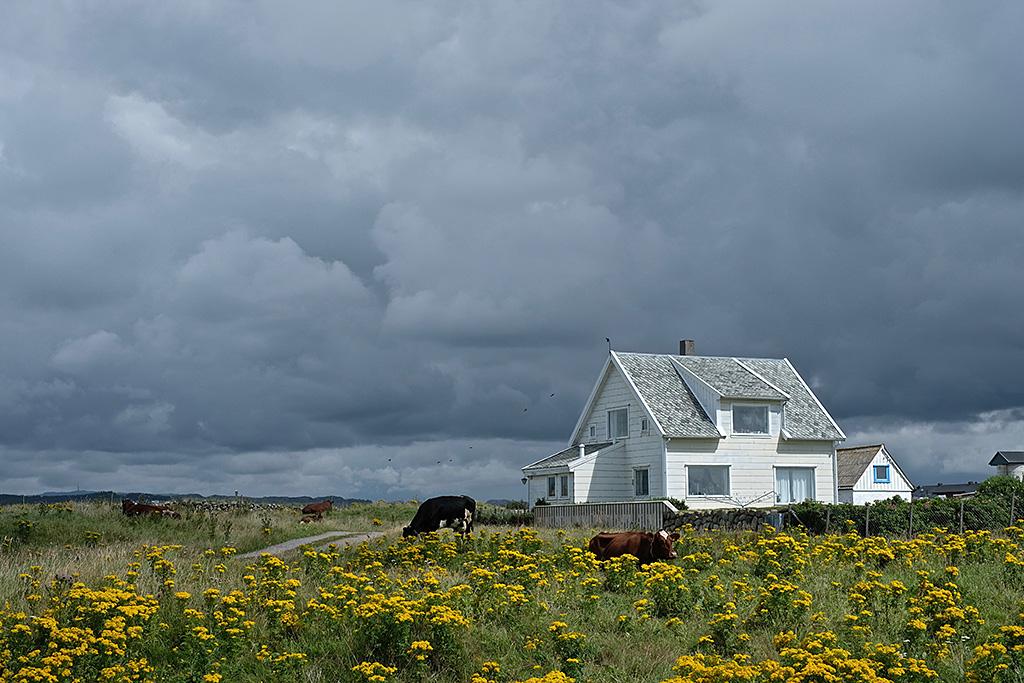 Décors de peinture près de Stavanger (Clin d'œil à Monsieur Hopper)