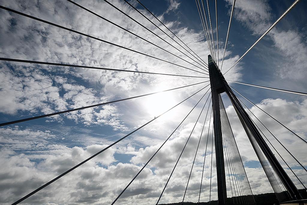 Pont suspendu près de Göteborg