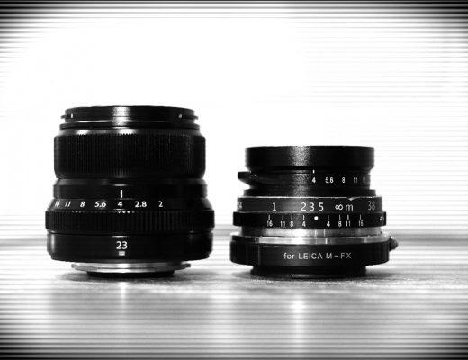 Fuji XF23/f2 vs Voigtlander 25mm/f4
