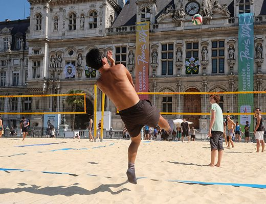 Beach Volley à la Mairie de Paris