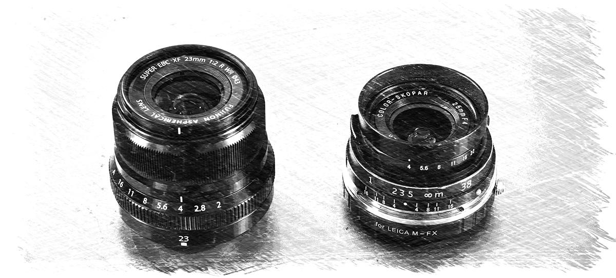Fuji XF 23mm/f2 WR - Voigtlander Color Skopa 25mm/f4